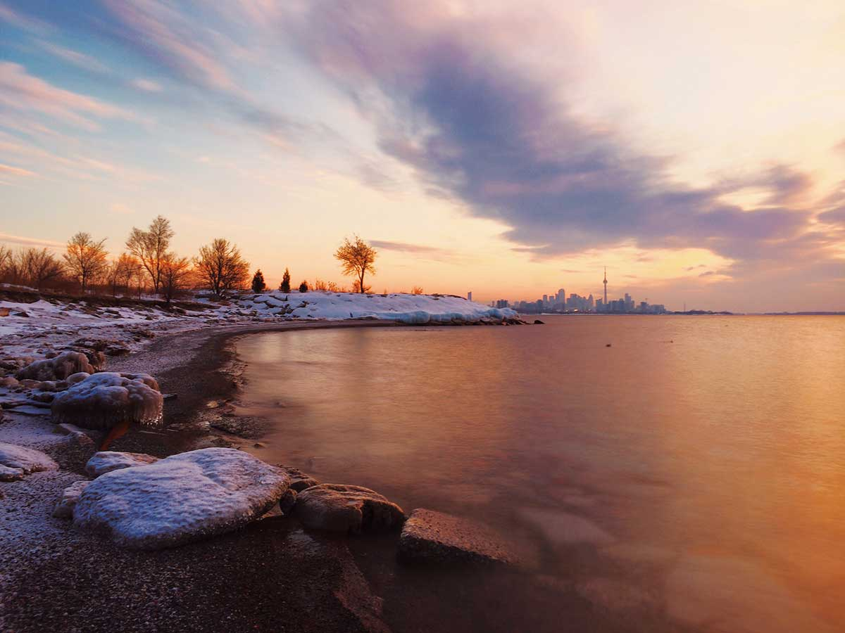 A magical sunrise by Lake Ontario