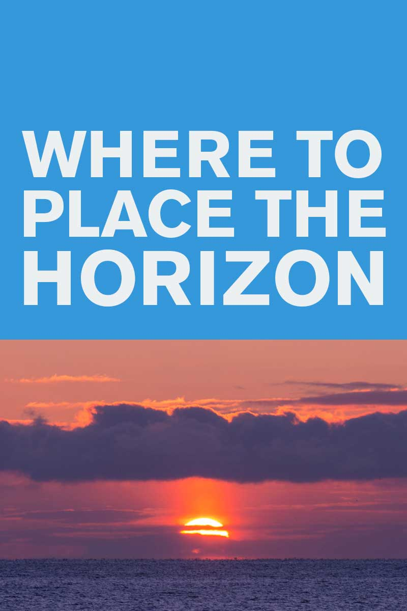 Where to place the horizon