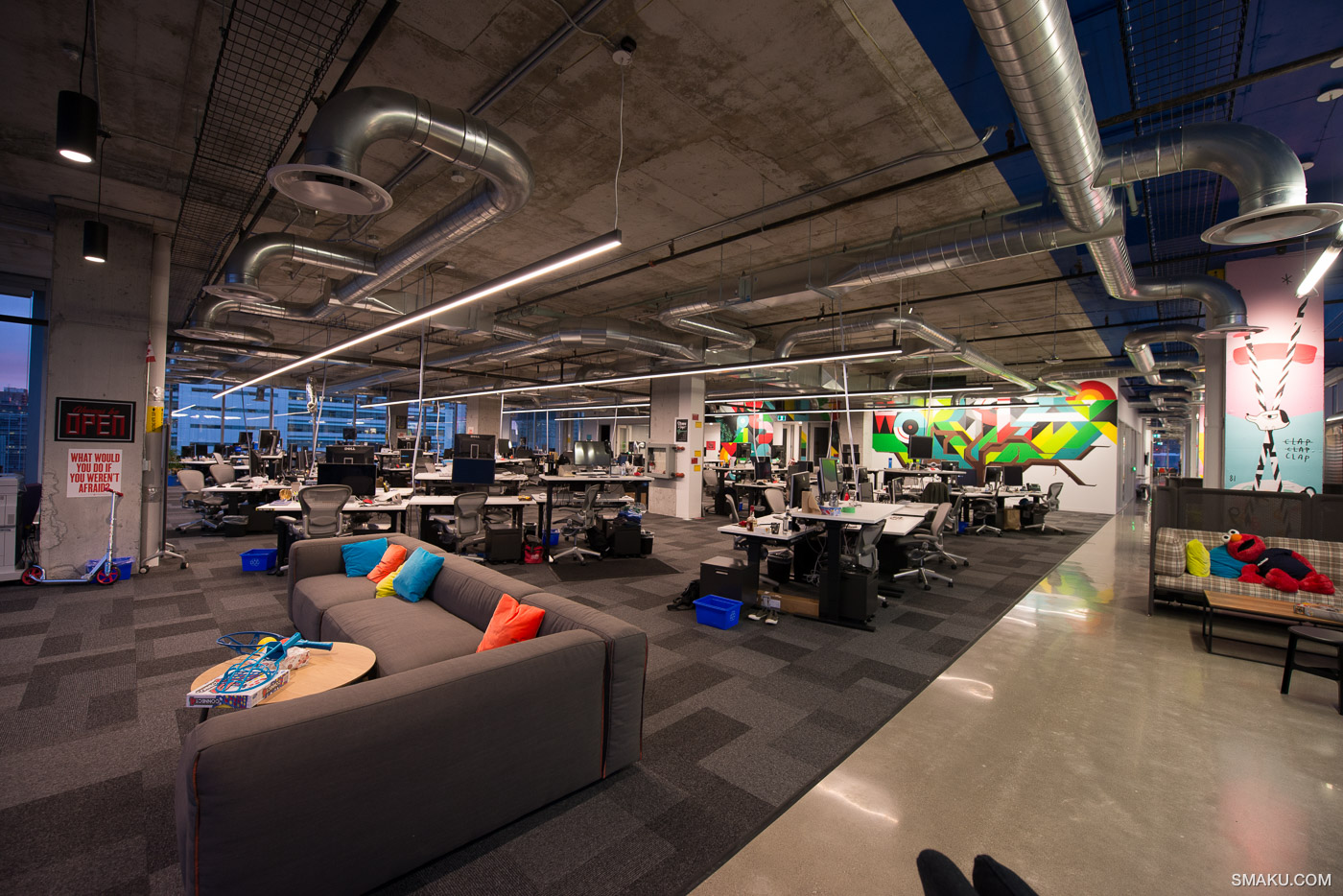 The open-concept office space of Facebook Canada and Instagram.