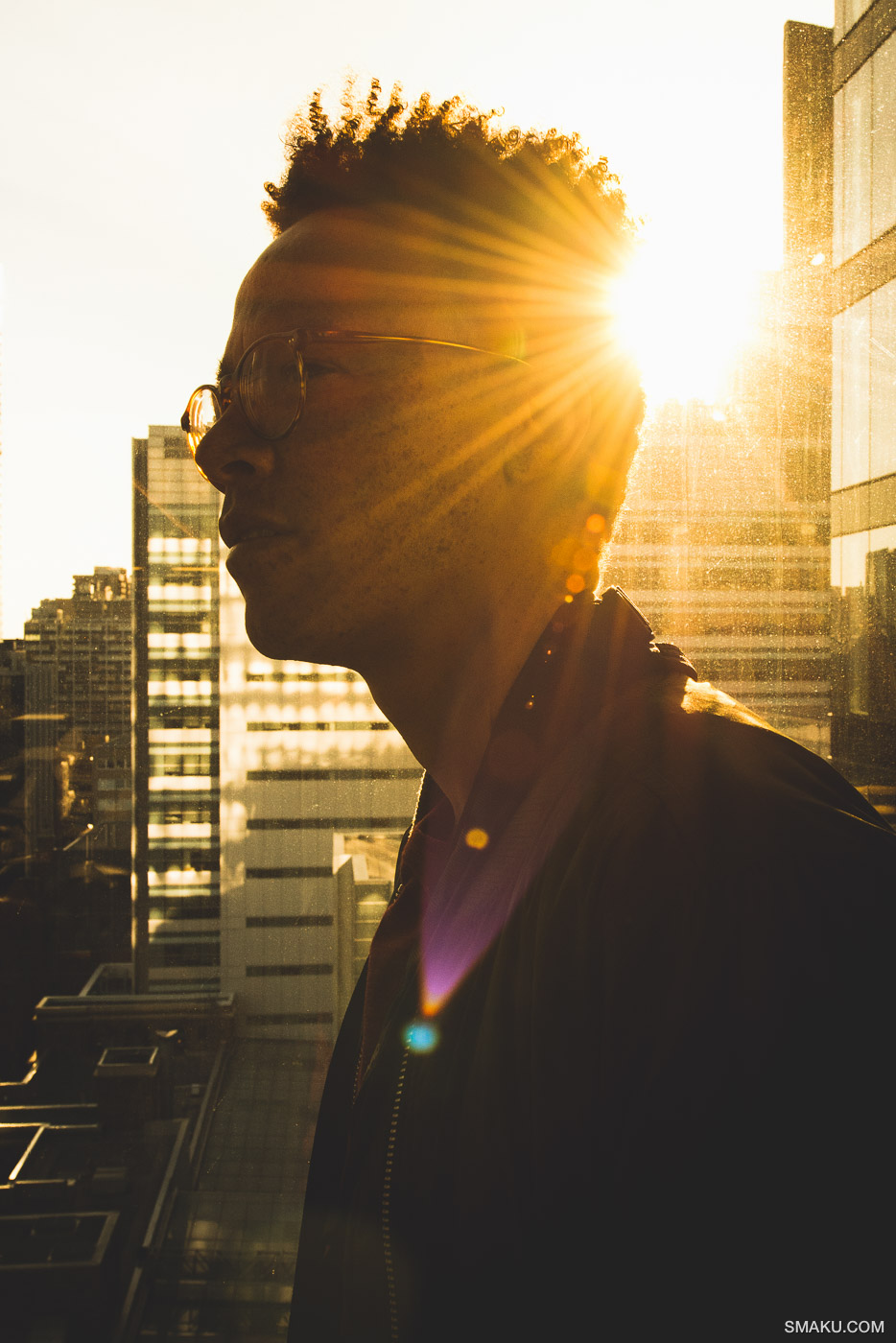 Taha in the sunlight.