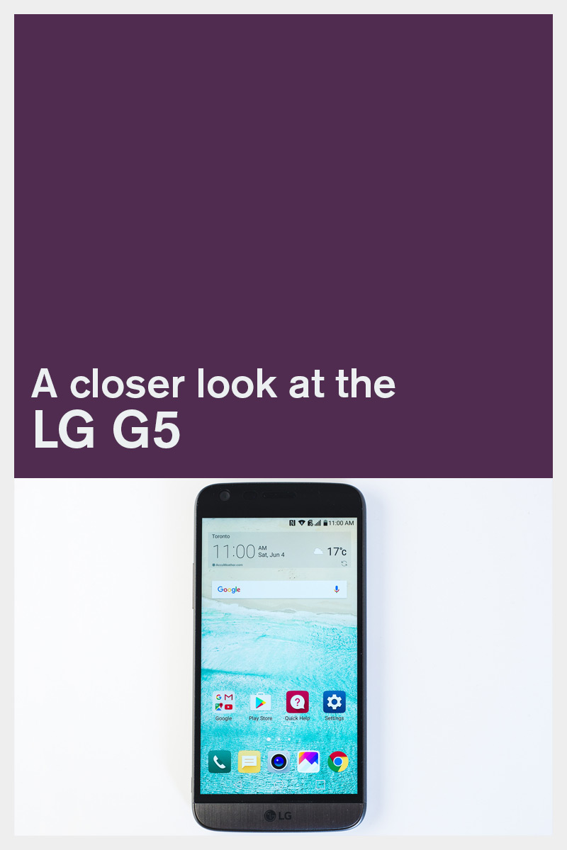 A closer look at the LG G5