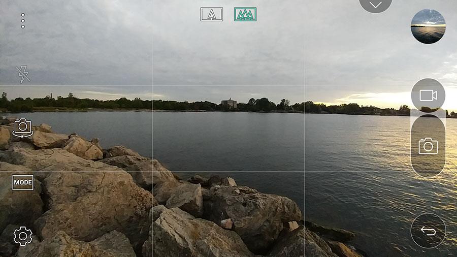 LG G5 Auto camera UI.
