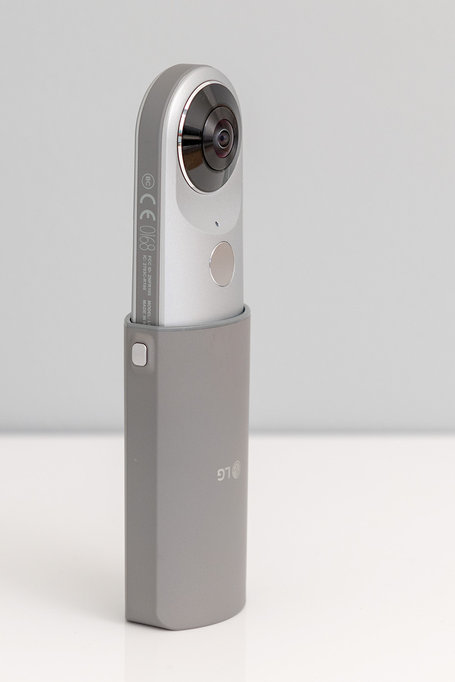LG 360 Cam with the cover acting as a holder.