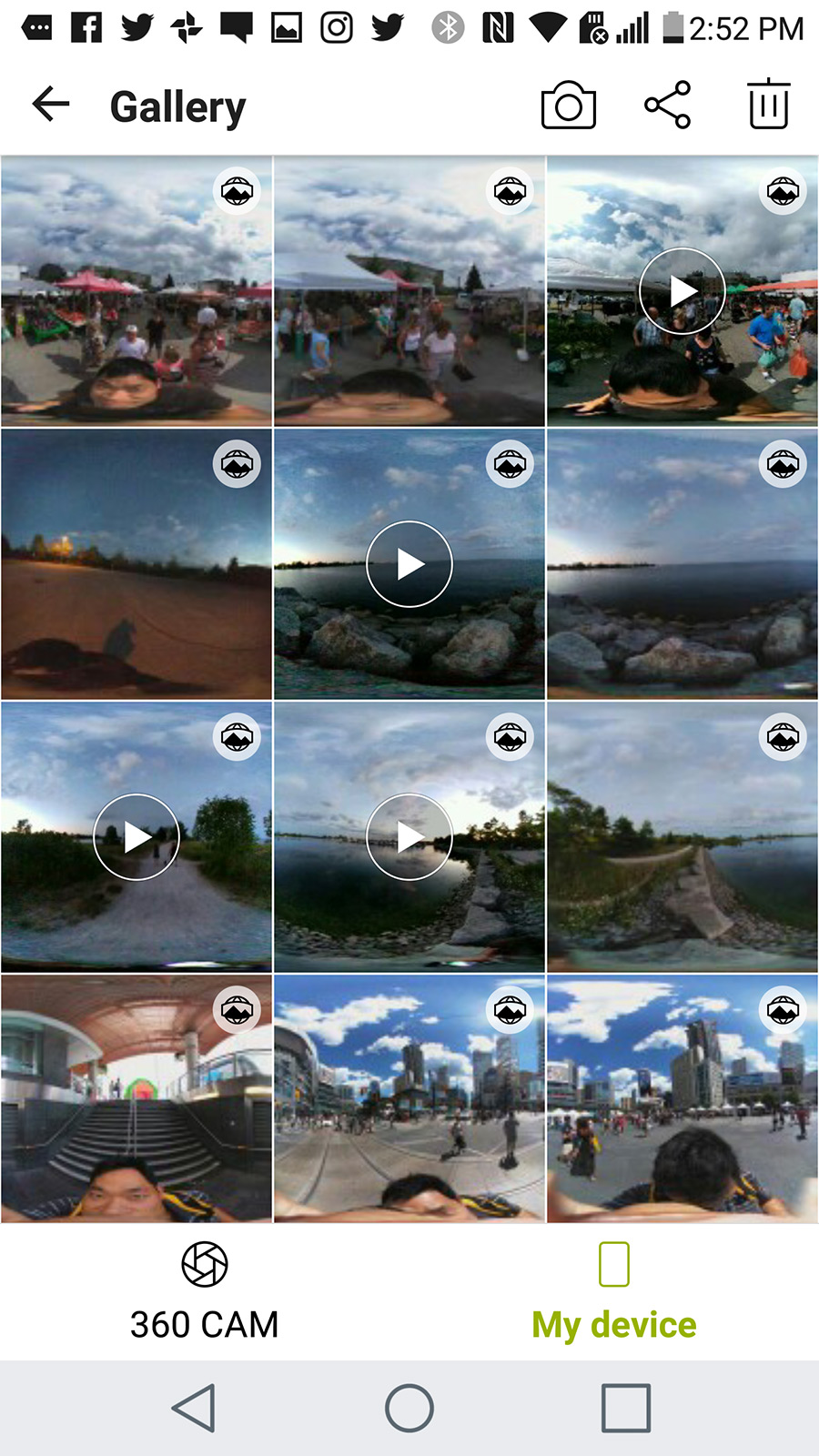 All the 360 photos and videos on your device.