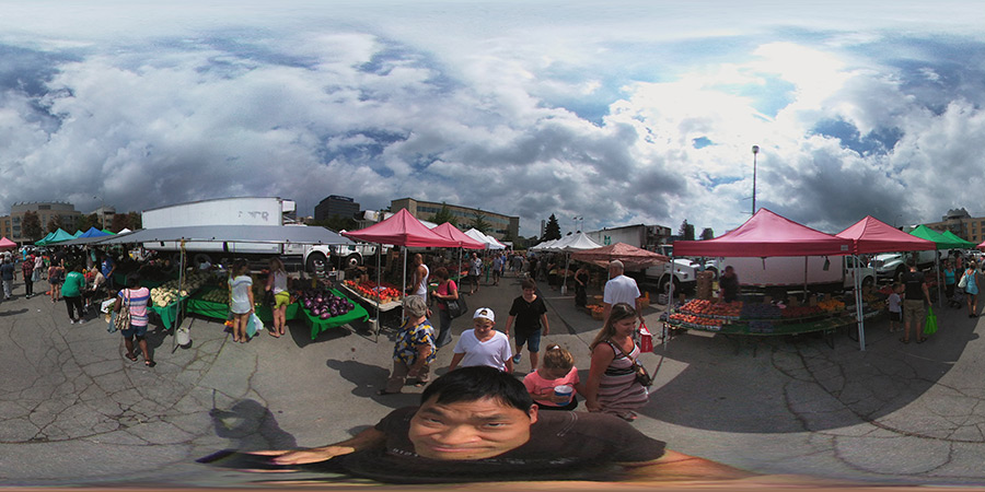 A 360 photo viewed normally.