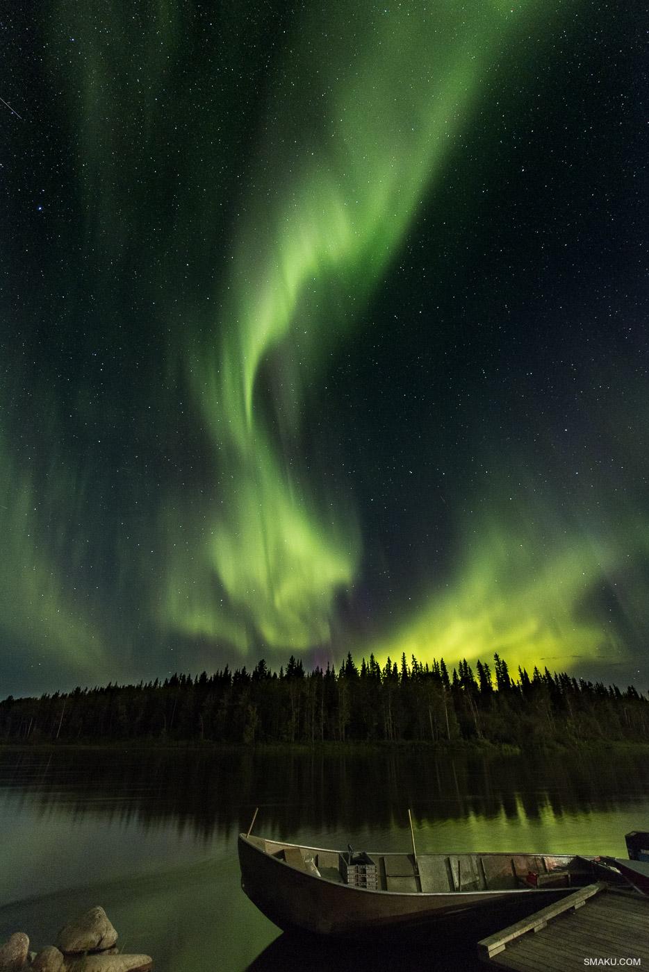 The Aurora Borealis edited with Adobe Lightroom.