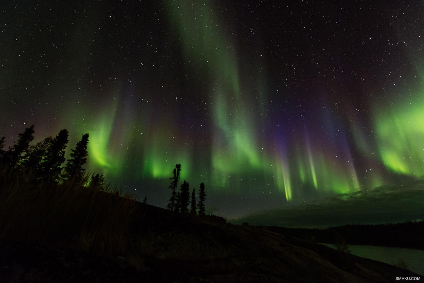 The vibrant colours of the Aurora Borealis