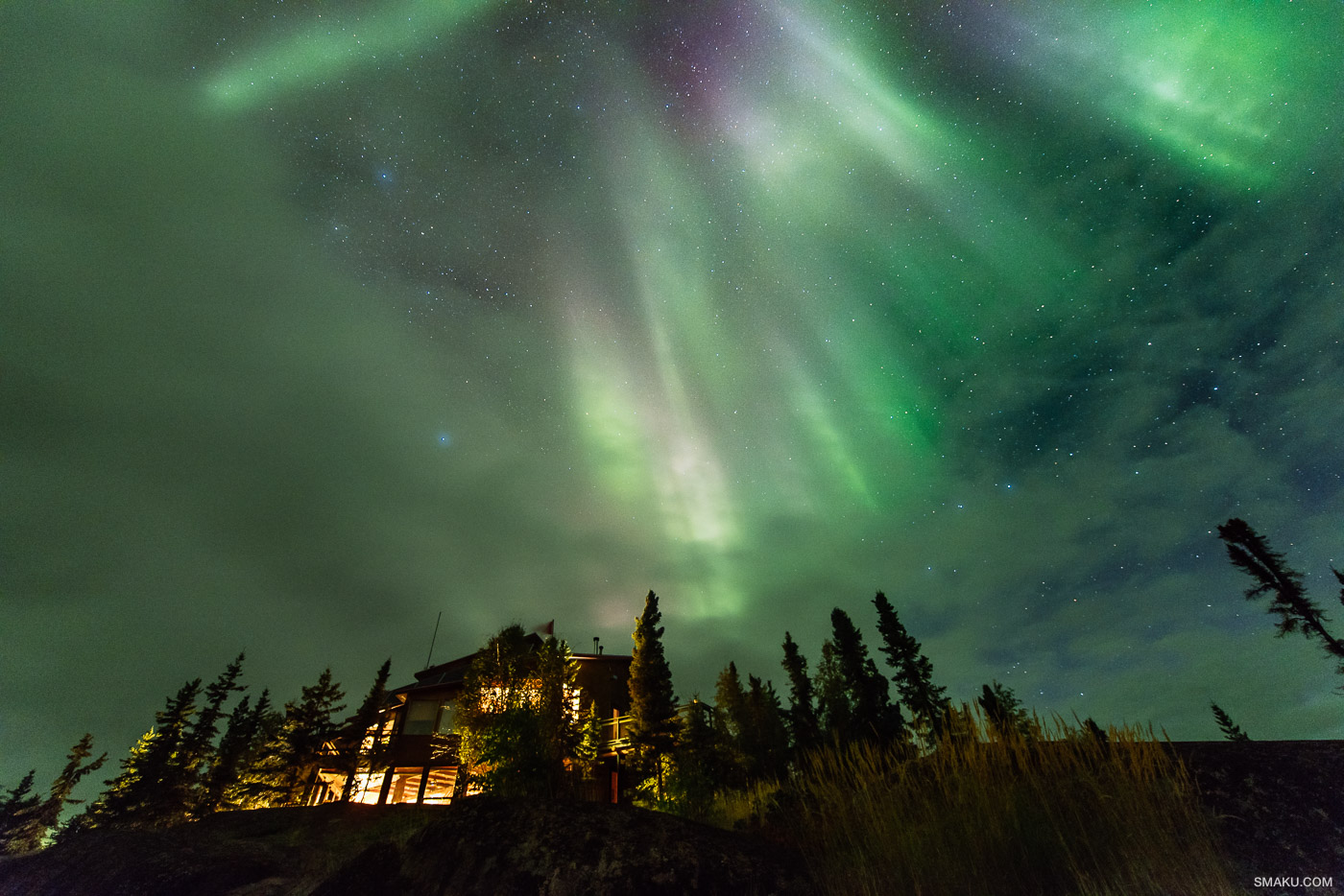 Blachford Lake Lodge Aurora Borealis