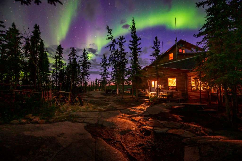 Aurora at Blachford Lake Lodge